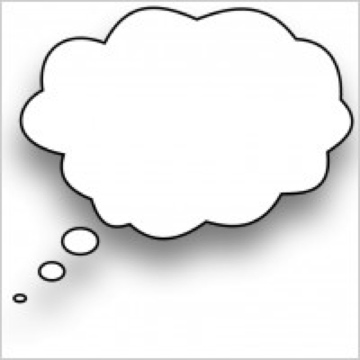 Daydreaming bubble clipart